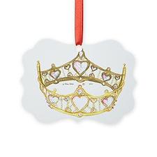 Queen of Hearts crown tiara Ornament