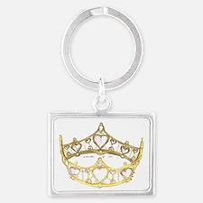 Queen of Hearts crown tiara Landscape Keychain