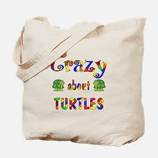 Crazy About Turtles Tote Bag
