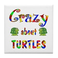 Crazy About Turtles Tile Coaster