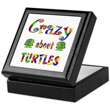 Crazy About Turtles Keepsake Box