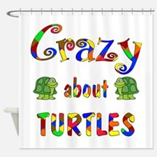 Crazy About Turtles Shower Curtain
