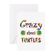 Crazy About Turtles Greeting Card