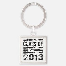 Grunge Class of 2013 Square Keychain