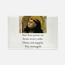 Our Foes Press On - Thomas Aquinas Magnets