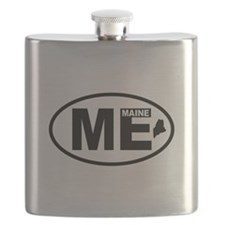 Maine Map Flask