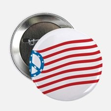 "Peace American Flag 2.25"" Button"