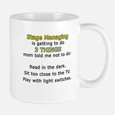 Stage Manager Moms 3 Things Small Small Mug