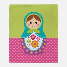 Cute Russia Throw Blanket
