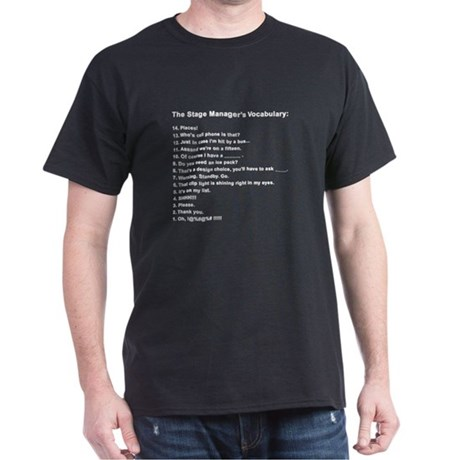 Stage Manager's Vocab Dark T-Shirt