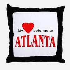 My heart belongs to Atlanta Throw Pillow