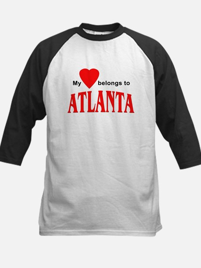 My heart belongs to Atlanta Kids Baseball Jersey