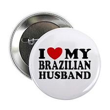 I Love My Brazilian Husband Button