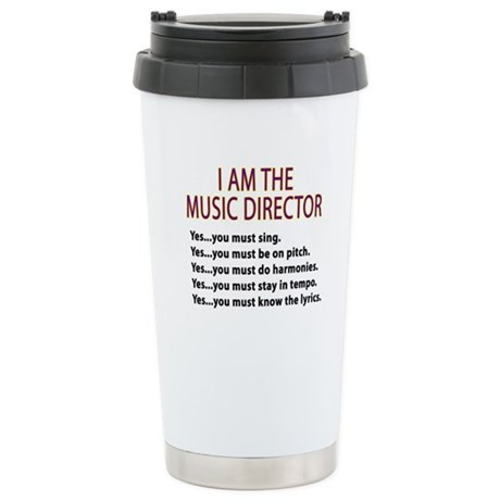 Music Director Stainless Steel Travel Mug