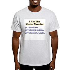 Music Director Ash Grey T-Shirt