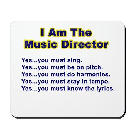Music Director Mousepad