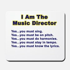 Music Director Mousepad