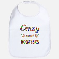 Crazy About Roosters Bib