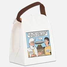 The Fine Print Canvas Lunch Bag