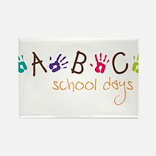 School Days Rectangle Magnet