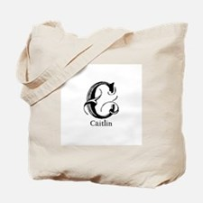Caitlin: Fancy Monogram Tote Bag