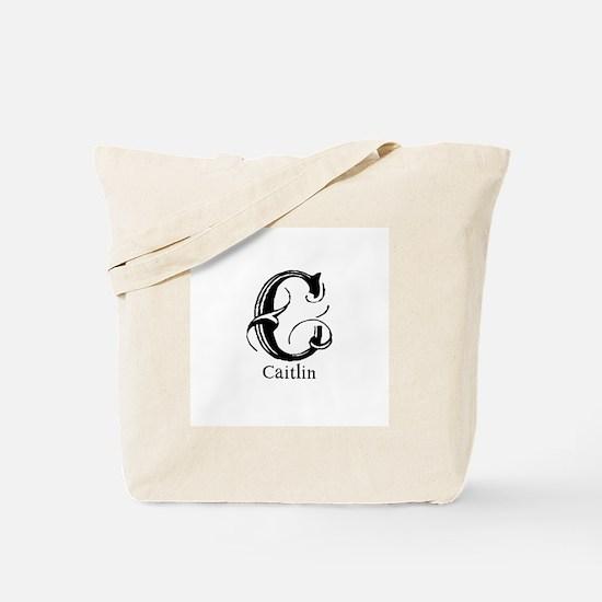 Caitlin: Fancy Monogram Tote Bag