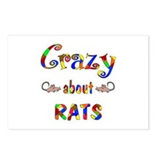 Crazy About Rats Postcards (Package of 8)