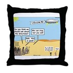 Men and Directions Throw Pillow