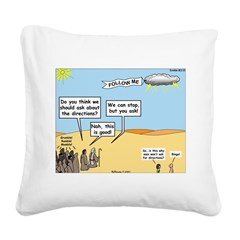 Men and Directions Square Canvas Pillow