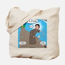 Fishing with Aaron and Moses Tote Bag