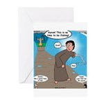 Fishing with Aaron and Moses Greeting Cards (Pk of