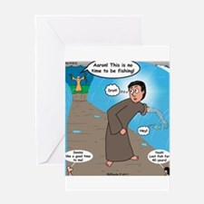 Fishing with Aaron and Moses Greeting Card