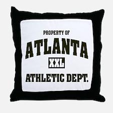 Property of Atlanta Athletic Dept. Throw Pillow