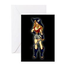 Pirate Queen Tattoo Art Greeting Card