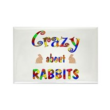 Crazy About Rabbits Rectangle Magnet