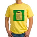 Moses Tombstone Yellow T-Shirt
