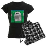 Moses Tombstone Women's Dark Pajamas