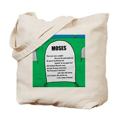 Moses Tombstone Tote Bag