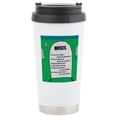Moses Tombstone Stainless Steel Travel Mug