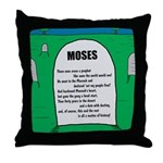 Moses Tombstone Throw Pillow