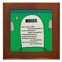 Moses Tombstone Framed Tile