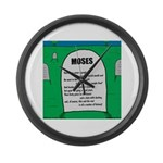 Moses Tombstone Large Wall Clock