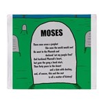 Moses Tombstone Throw Blanket