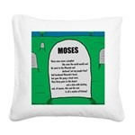 Moses Tombstone Square Canvas Pillow