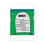 Moses Tombstone Mini Poster Print