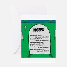 Moses Tombstone Greeting Card