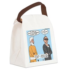 The Commandments or Your Life Canvas Lunch Bag