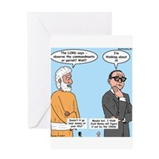 The Commandments or Your Life Greeting Card
