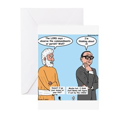 The Commandments or Your Life Greeting Cards (Pk o