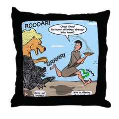 Burnt Offering Problems Throw Pillow